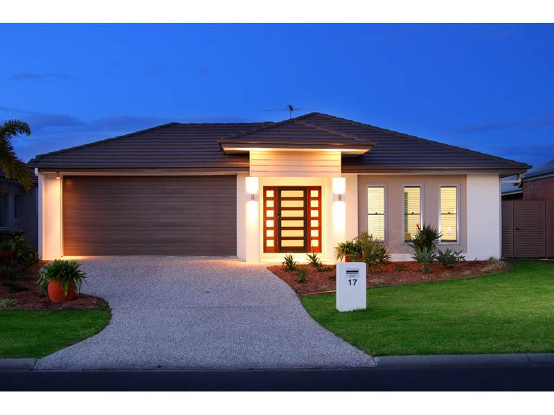 Single Story Home Exterior photo of a rendered brick house exterior from real australian home