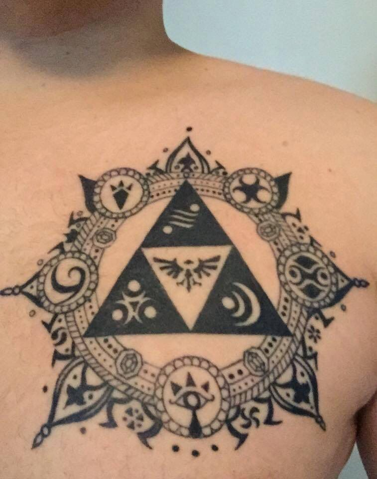 Triforce Tattoo : triforce, tattoo, Triforce, Tattoo, Zelda, Tattoo,, Legend, Tattoos,, Tattoos