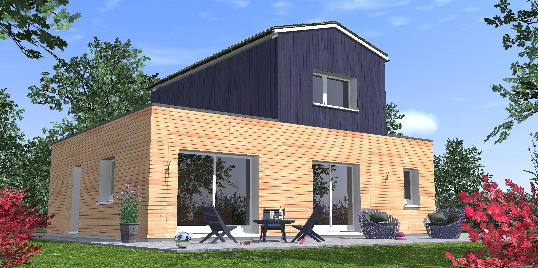 Maison actuelle con§ue en plan rectangulaire posée d une