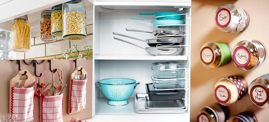 12 Ingeniosas Ideas Para Aprovechar El Espacio En Tu Cocina Mujer De 10 Guía Real Para La Mujer Actual Entérate Ya Como Organizar Una Cocina Arreglar Los Muebles Almacenaje De Cocina Ingeniosas