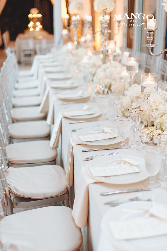 Table Setting For Kelly And Bill S Beautiful Beach Wedding With