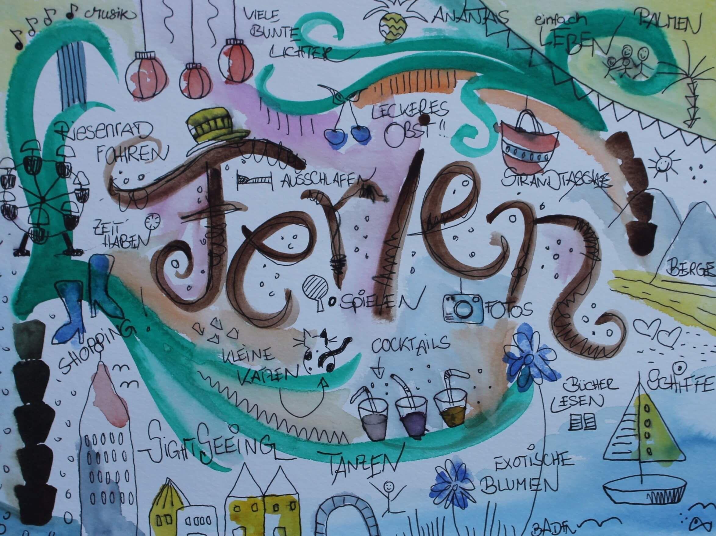 Ideen zum Malen finden Teil 2: Kreative Übung von