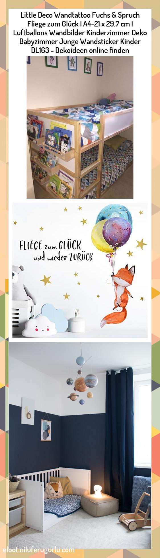 Little Deco Wandtattoo Fuchs /& Spruch Fliege zum Gl/ück I A4-21 x 29,7 cm I Luftballons Wandbilder Kinderzimmer Deko Babyzimmer Junge Wandsticker Kinder DL163