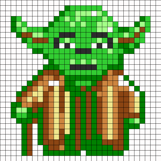Yoda Perler Bead Pattern Bead Sprites Characters Fuse