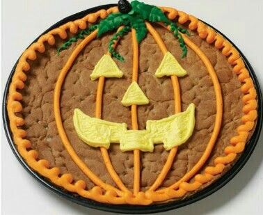 Giant Chocolate Chip Cookie Decorated For Halloween Halloween