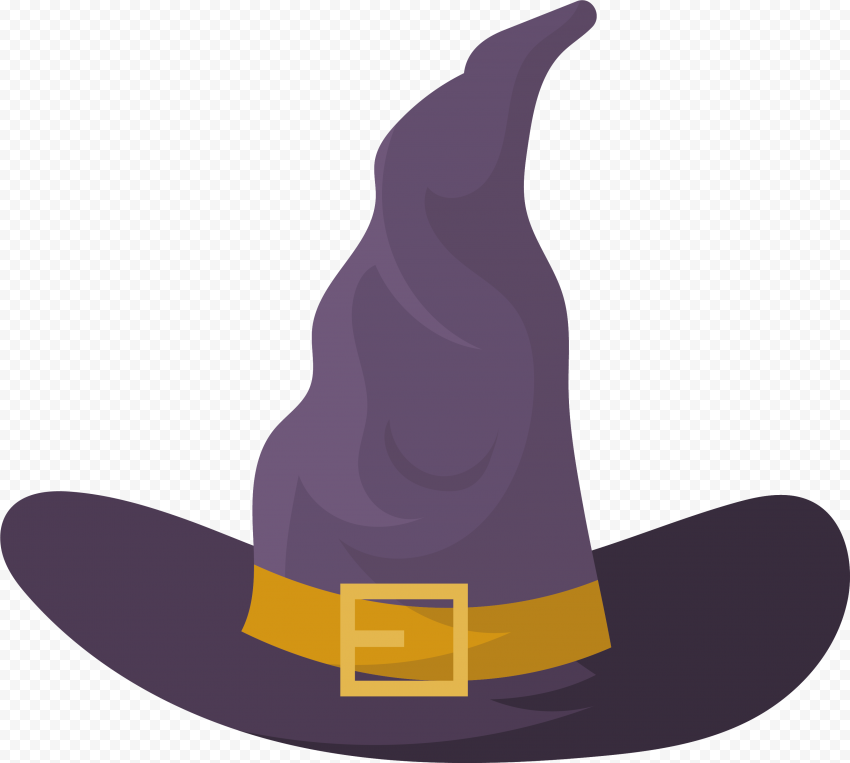 Hd Halloween Witch Hat Flat Purple Clipart Cartoon Png Halloween Witch Hat Halloween Witch Cartoons Png