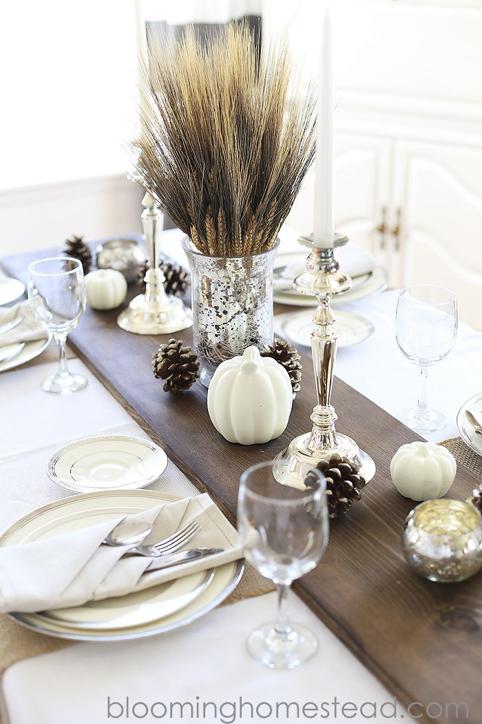 25 Elegant Thanksgiving Table Decoration Ideas Rustic