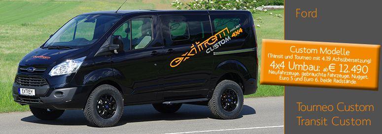 Ford Tourneo Transit Custom 4x4 Allrad Ford 4x4 Ford Tourneo Custom