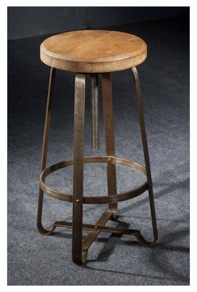 Hocker Altholz 33x33x67 Mehrfarbig Lackiert Industrial 20 Hocker Holz Industriedesign Hauser Hocker Metall