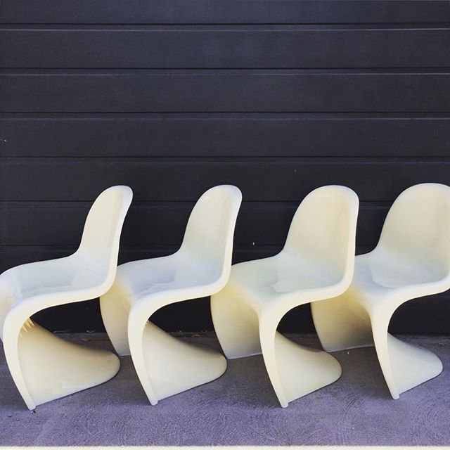 woot woot i have four vintage verner panton style s chairs