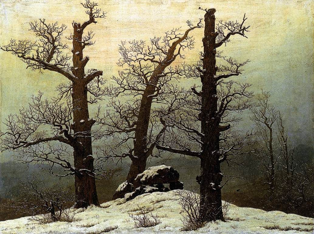 Great Art Of The World Caspar David Friedrich Paintings Caspar David Friedrich Winter Landscape