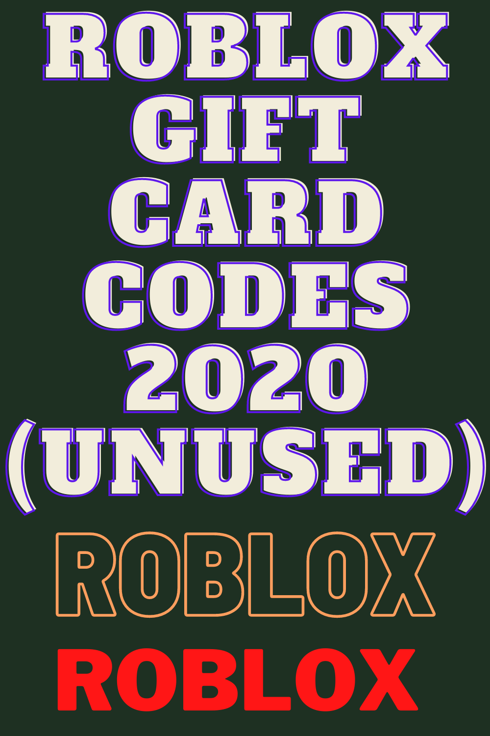Roblox Gift Card Codes 2020 Unused In 2020 Roblox Gifts Roblox Netflix Gift Card Codes