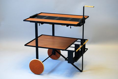 Rare serving trolley  with heating function  by Cees Braakman for  Pastoe Holland 1960's  Price: 10500 SEK (Swedish Kronor) = $1617.50