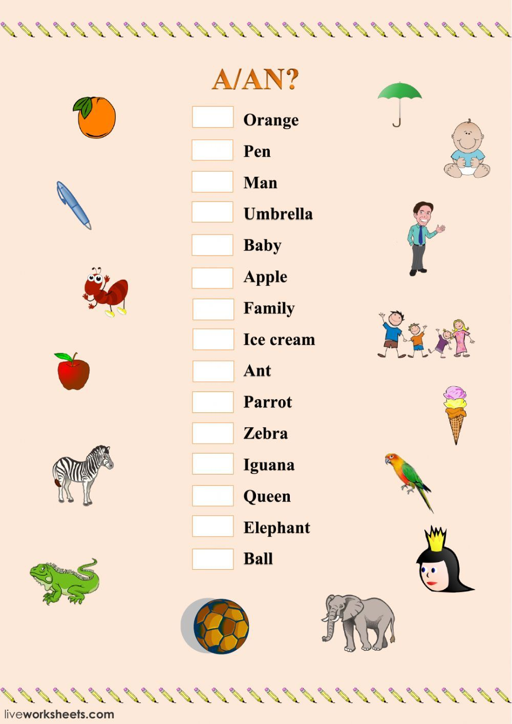 Indefinite Articles Interactive And Downloadable Worksheet You Can Do The Exercises O Learning English For Kids English For Beginners English Lessons For Kids [ 1413 x 1000 Pixel ]