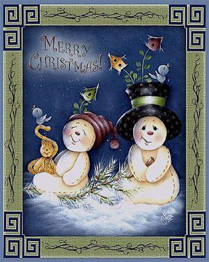 4 Single Table Paper Napkins for Decoupage Snowman Surprise Christmas Winter