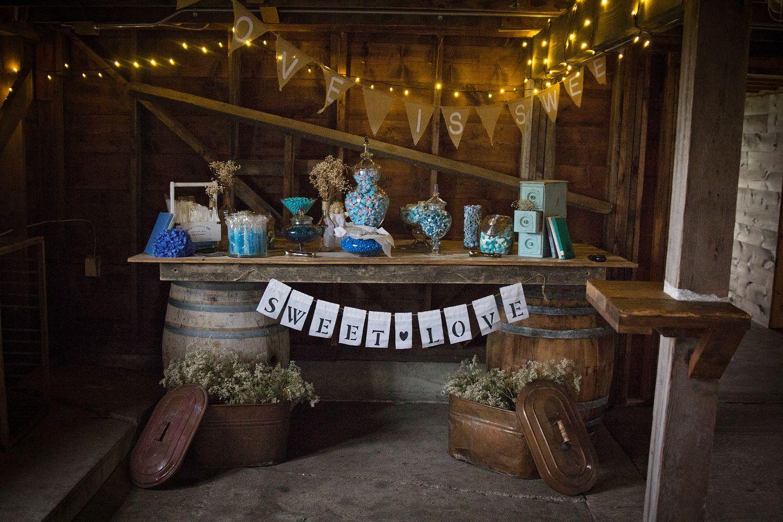 Brent Charissa Rustic Candy Bar Garden Venue Vintage Garden