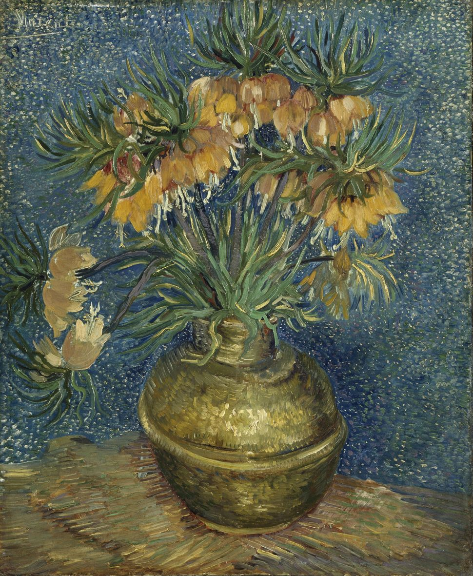 Imperial Fritillaries in a Copper Vase (1887) by Vincent van Gogh (1853–1890) Musée d'OrsayGoogle Art Project: Homevia Wikimedia