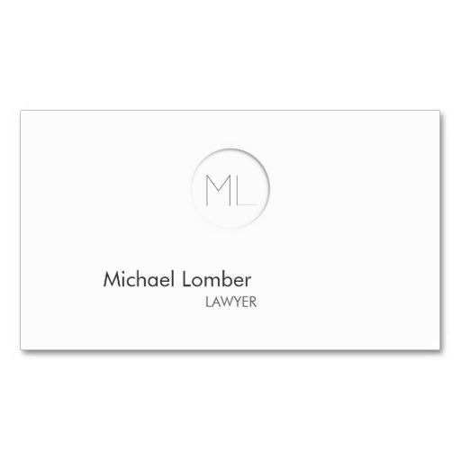 Minimalistic Modern Monogram Business Card. This great business card design is available for customization. All text style, colors, sizes can be modified to fit your needs. Just click the image to learn more!