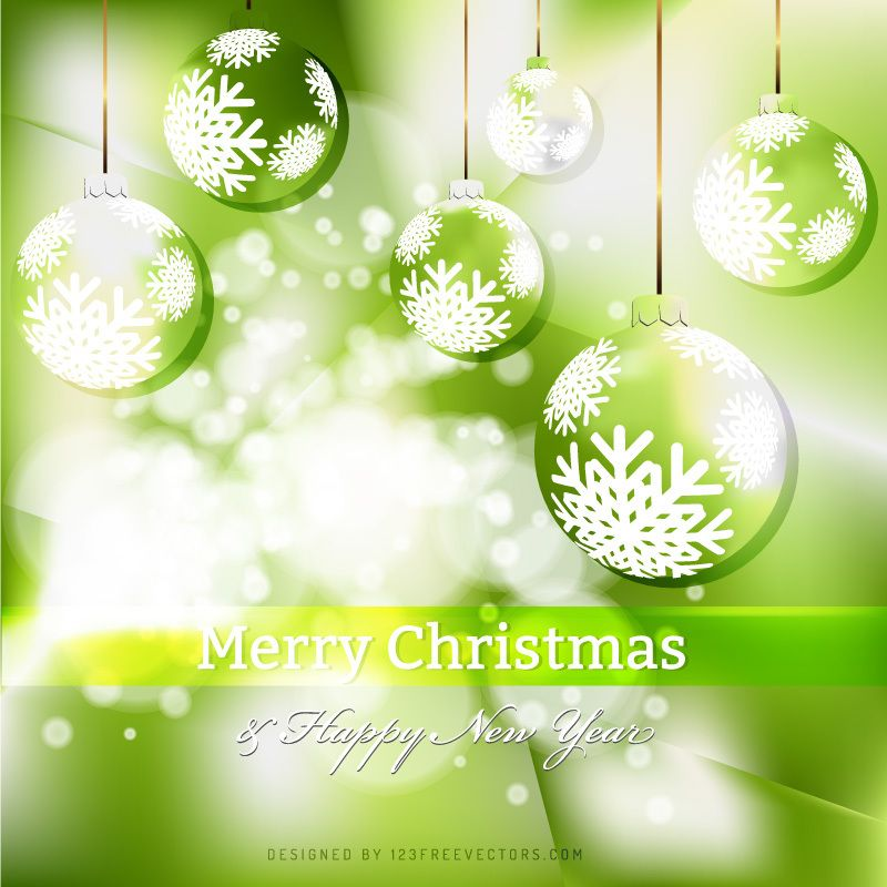 green christmas ornament background template