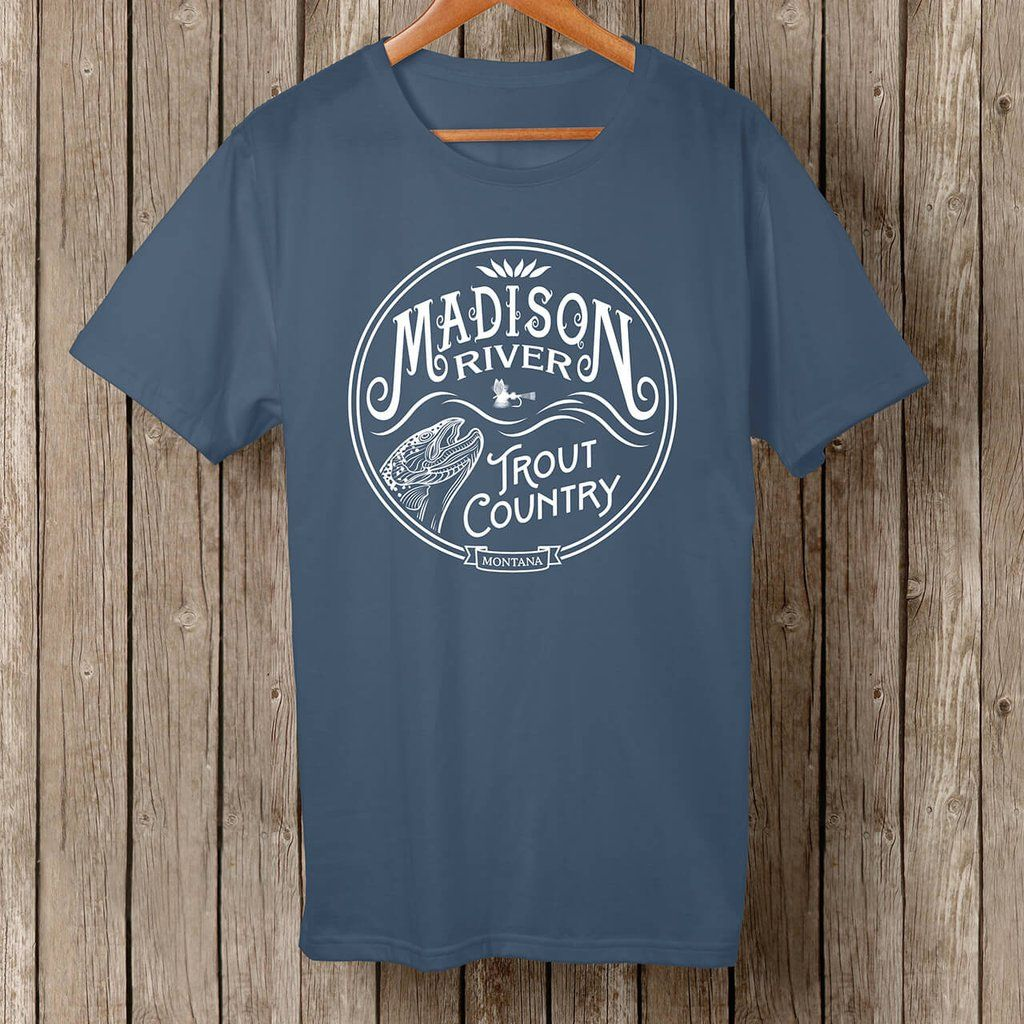 Madison River Trout Country, white logo t-shirt | Montana