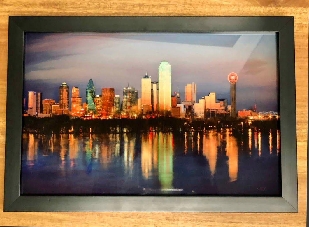 Dallas Skyline Framed 13.5\