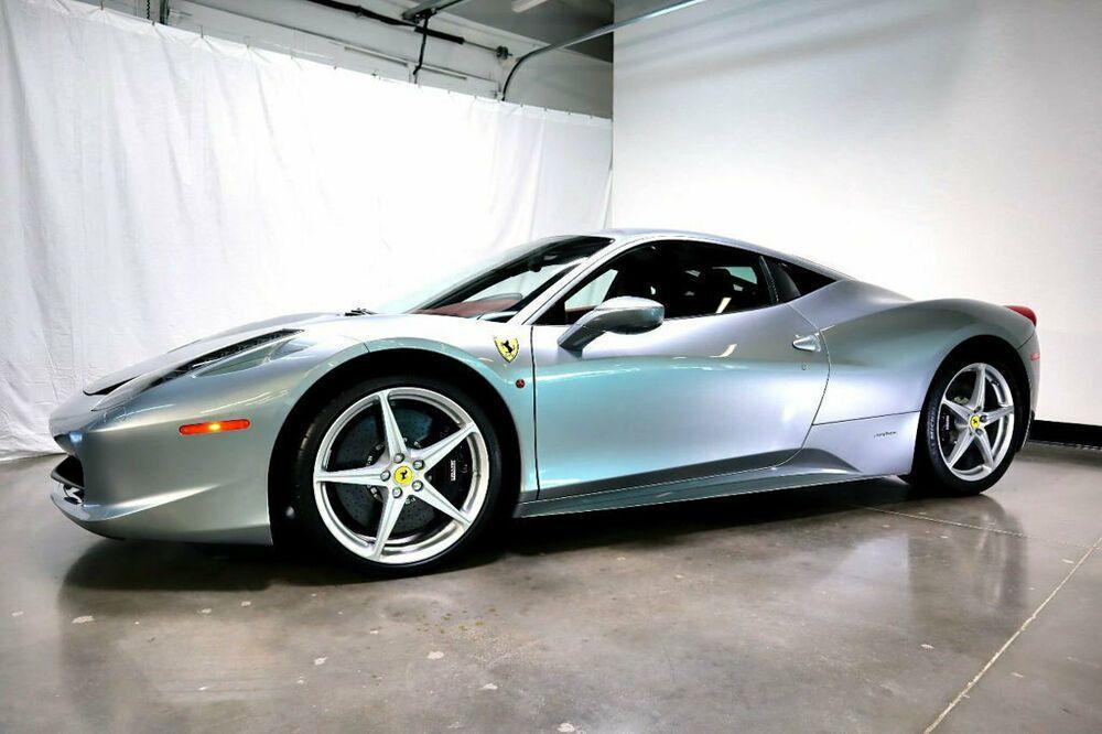 2010 Ferrari 458 Italia Only 9k Miles Front Lift 2010 458 Italia Only 9k Miles Grigio Silverstone Frnt Lift Ferrari 458 Italia Ferrari 458 Ferrari