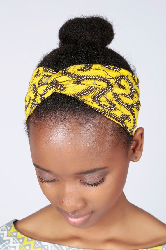 cbcce657a3a5c Serre-tête, bandeau africain, Ankara hairband, en Wax, accessoire cheveux,  cadeau pour elle, africain imprimé bande de cheveux,…