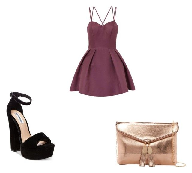 """"""":)"""" by daillawanessa on Polyvore featuring moda, Chi Chi, Steve Madden e Urban Expressions"""