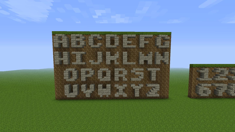 как сделать блоки с буквами в майнкрафт без мода #4