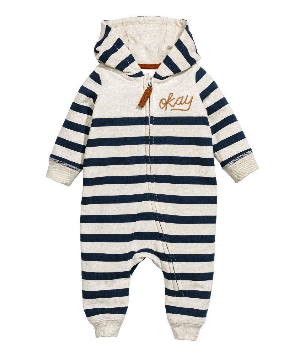 feinste Auswahl ad9d1 12ca2 Sweatshirt-Overall | Dunkelblau/Gestreift | Kinder | H&M DE ...