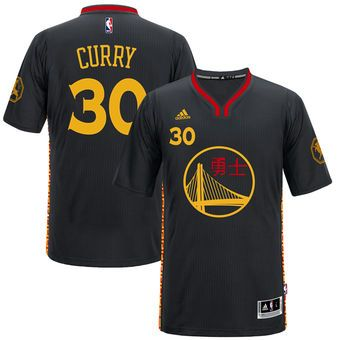 3498a2cc601b adidas Stephen Curry Golden State Warriors 2016 Chinese New Year Swingman  Performance Jersey