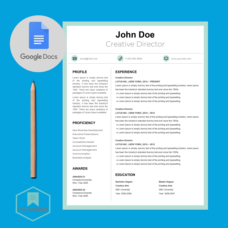 New Google Docs Resume, Google Docs Resume Template
