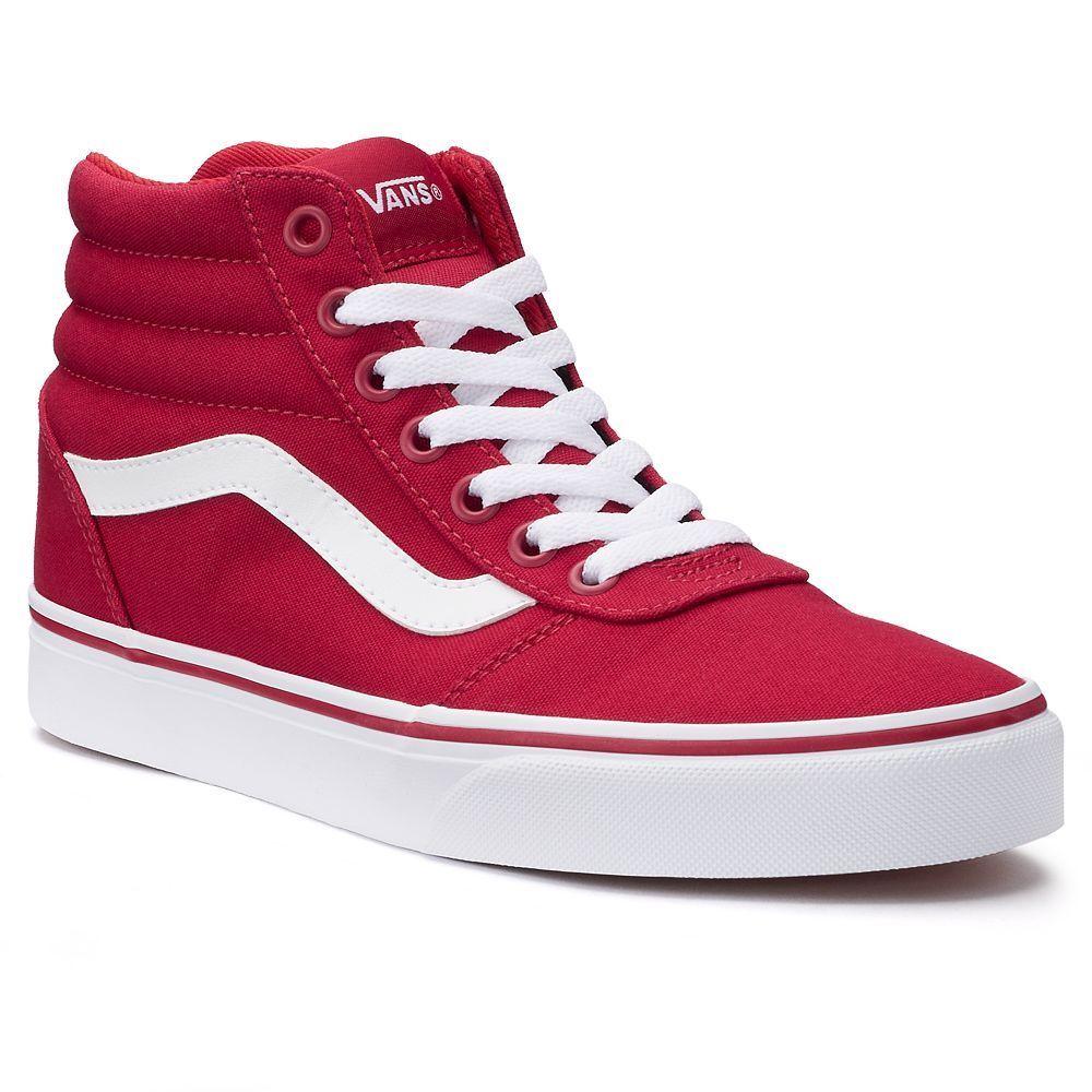 vans high rouge