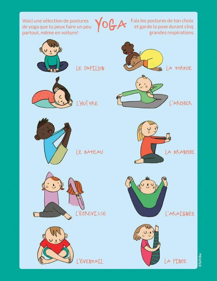 Routine de yoga à imprimer