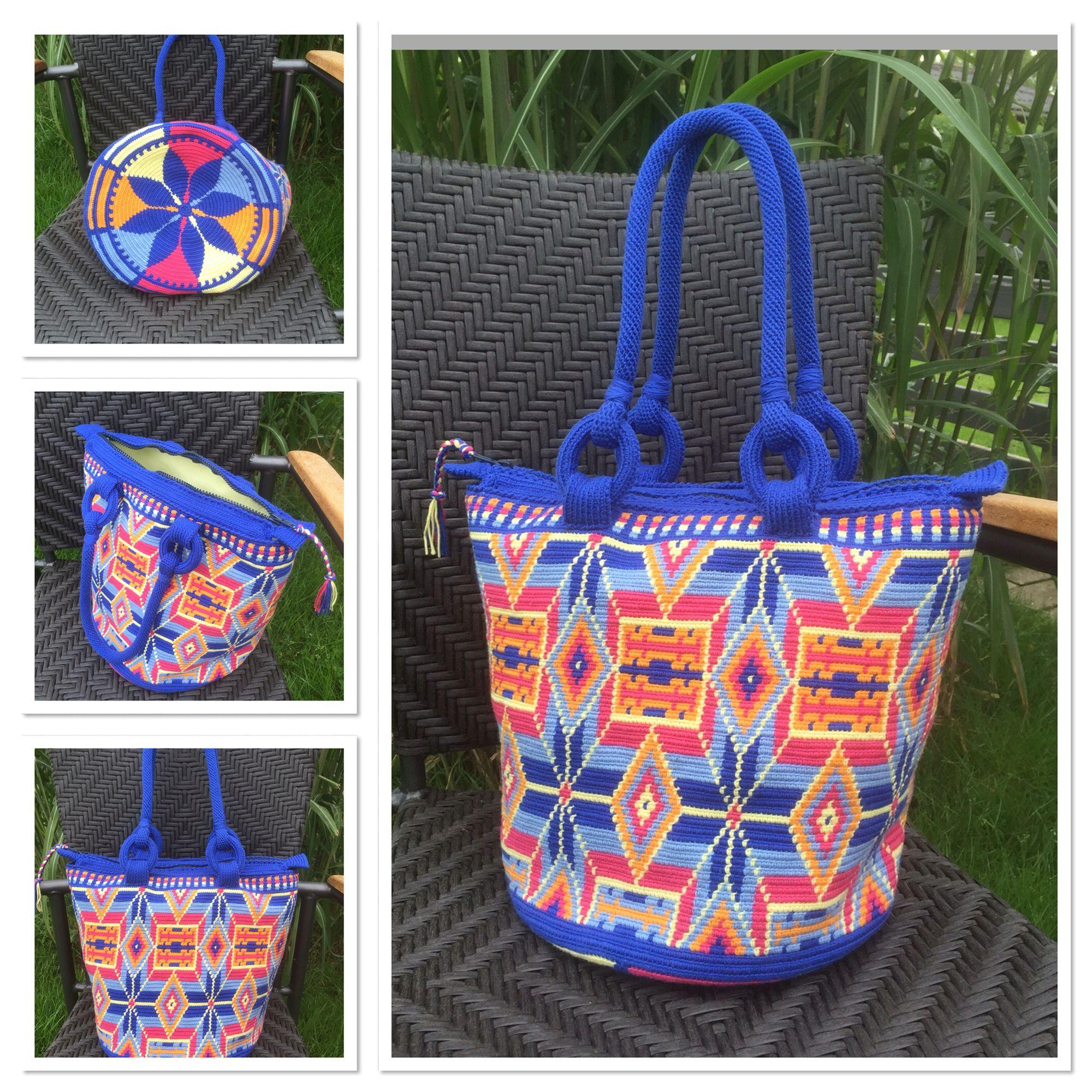 Crocheted bag size XL   Mochilas   Pinterest   Tasche häkeln, Häkeln ...