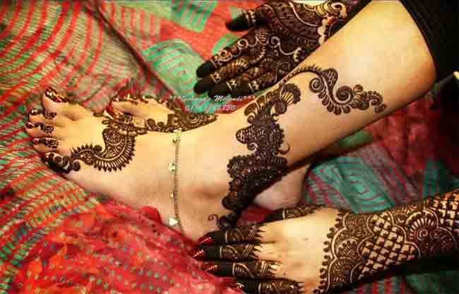 Bridal Mehndi On Foot : Best bridal mehndi designs for wedding
