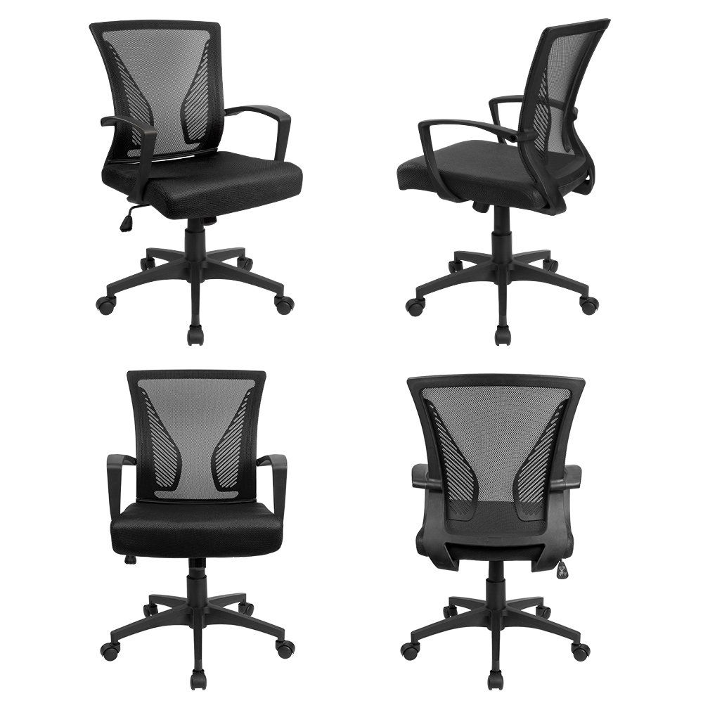 Devoko midback computer office swivel desk chair with arms