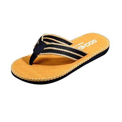 417a3a9f9a8 Sunyastor Men s Classical Flip-Flop Beach Slipper Thong Sandals Comfortable  Handmade Fashion Indoor and Outdoor