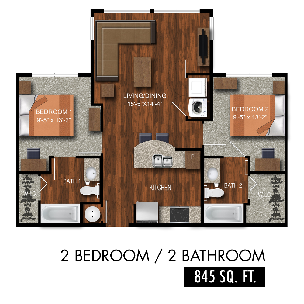 Two Bedroom Apartments In Tuscaloosa Al Loft Plan Student Apartment
