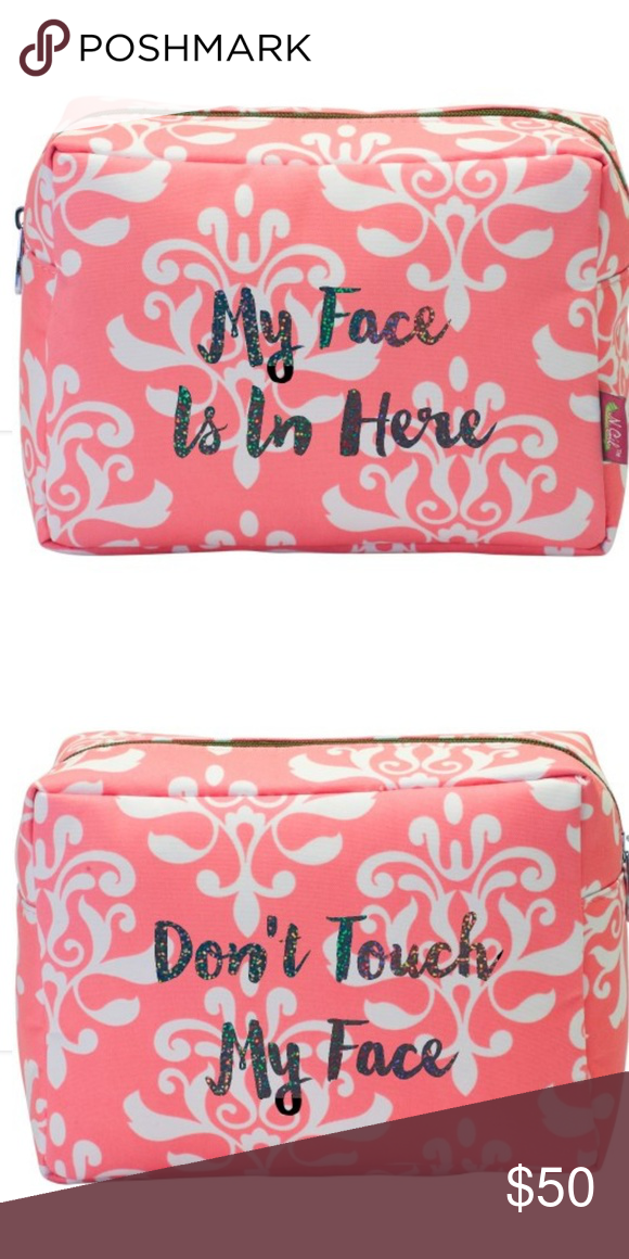This makeup bag features black glitter lettering. Everyone will know not to  mess with your makeup anymore! Bags Cosmetic Bags   Cases 7abdb96aeab34