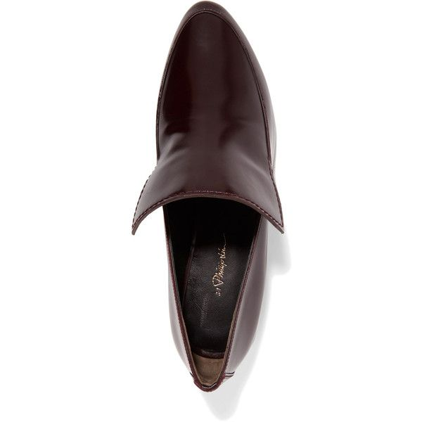 e4bbbd2f467 3.1 Phillip Lim - Louie Polished-leather Loafers ( 225) ❤ liked on Polyvore  featuring shoes