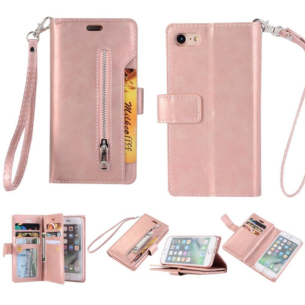 0e0404a4663e iPhone 7/iPhone 8 Wallet Case Cover, Dteck Quality Leather Flip ...