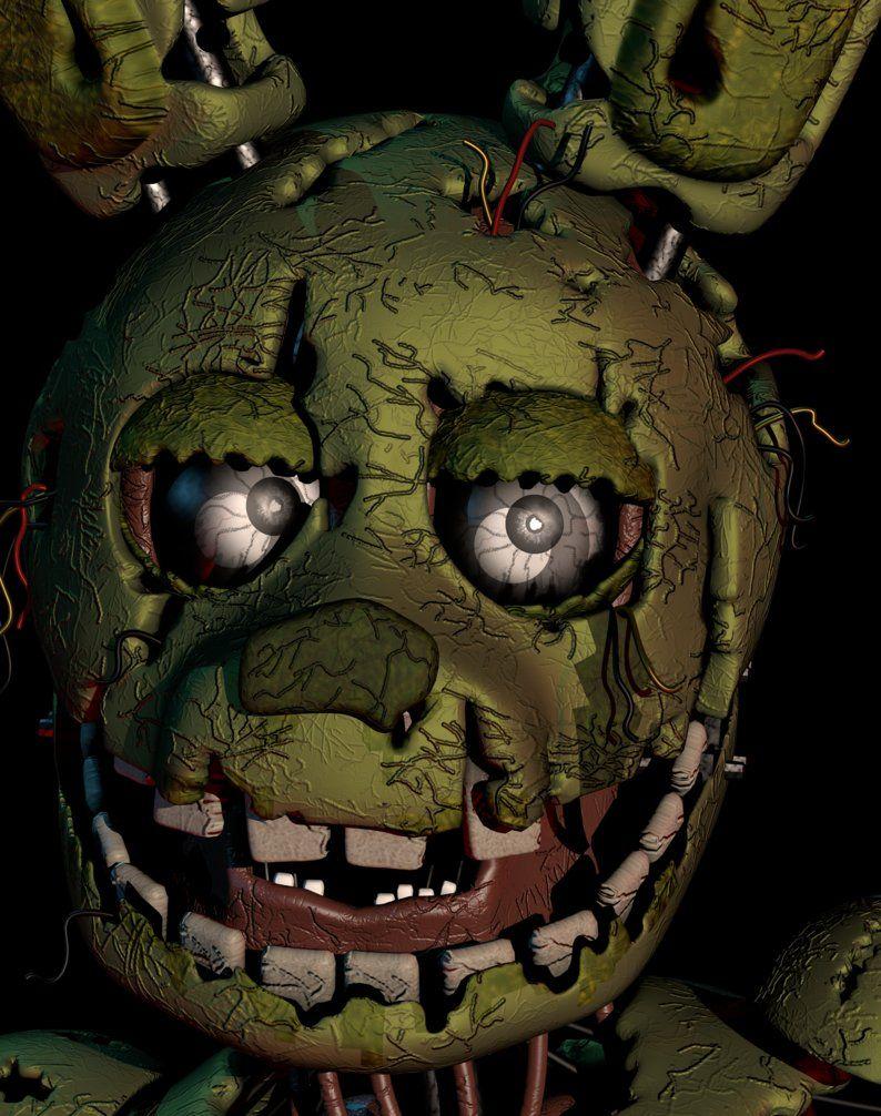 Springtrap Ultimate Custom Night Mugshot Remake By Andydatraginpurro Fnaf Wallpapers Fnaf Freddy Fnaf Drawings