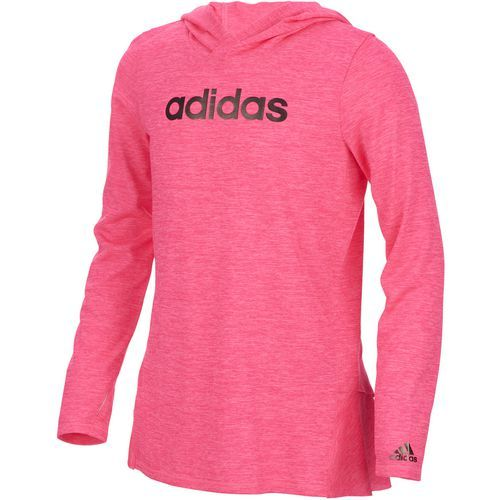 bf322db0d62 Adidas Girls' Hustle Your Bustle Climalite Performance Hoodie (Solar Pink  Heather, Size Medium) - Girl's Apparel, Girl's Athletic Tops at Academy S..
