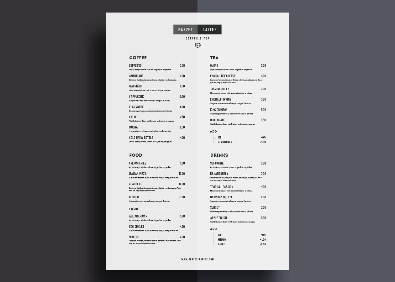 Free Restaurant Menu Template  Bitchin Kitchen