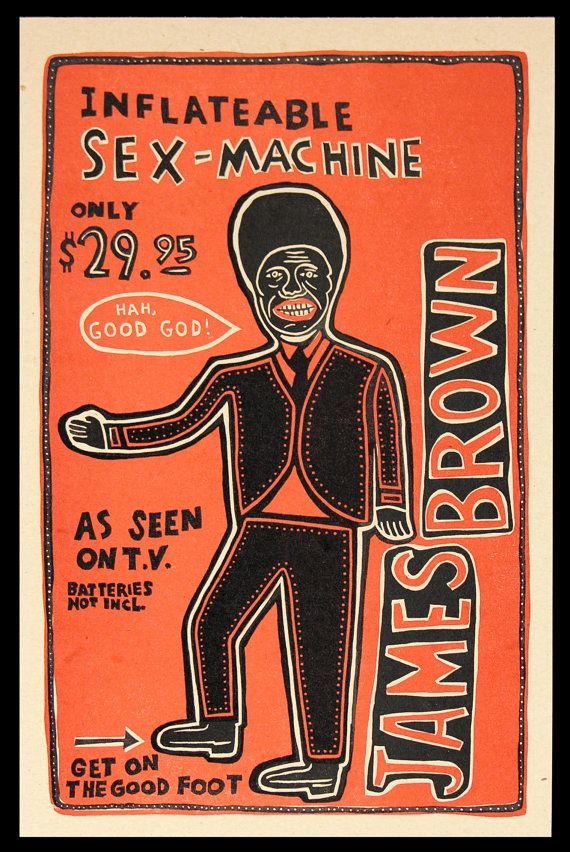 JAMES BROWN Inflatable Sex Machine Doll Hand by ChurchofType