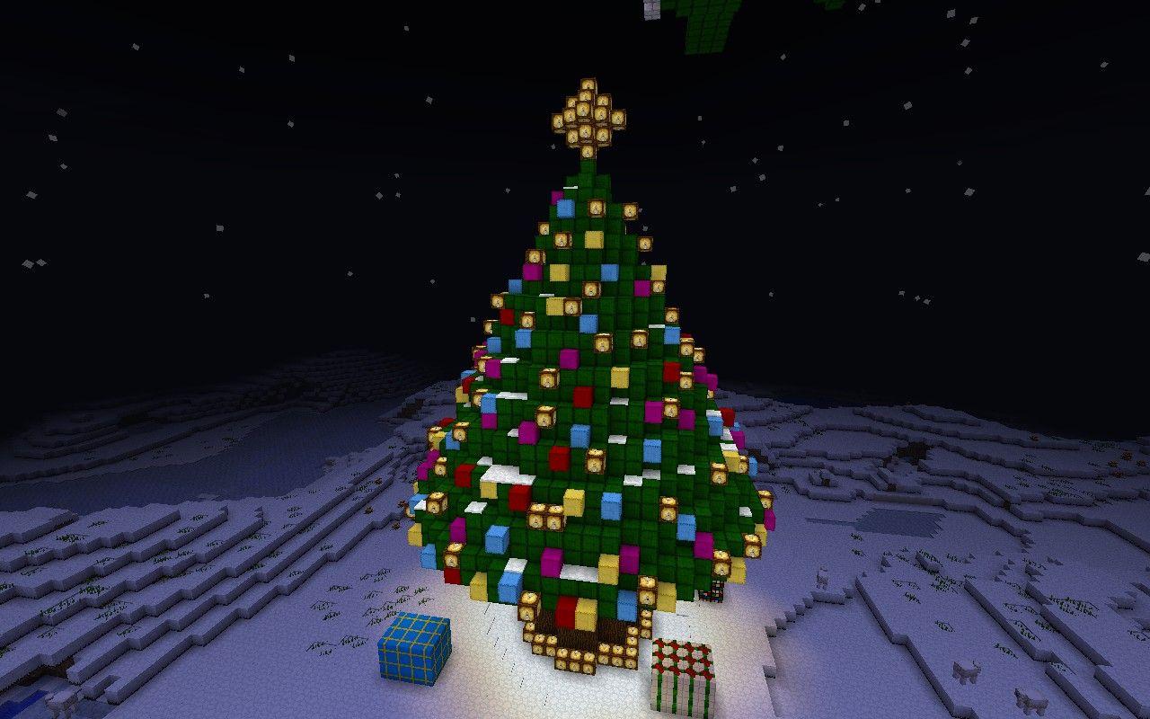 Christmas Wonderland With Christmas Tree Minecraft Project Minecraft Christmas Minecraft Christmas Tree Minecraft Gifts