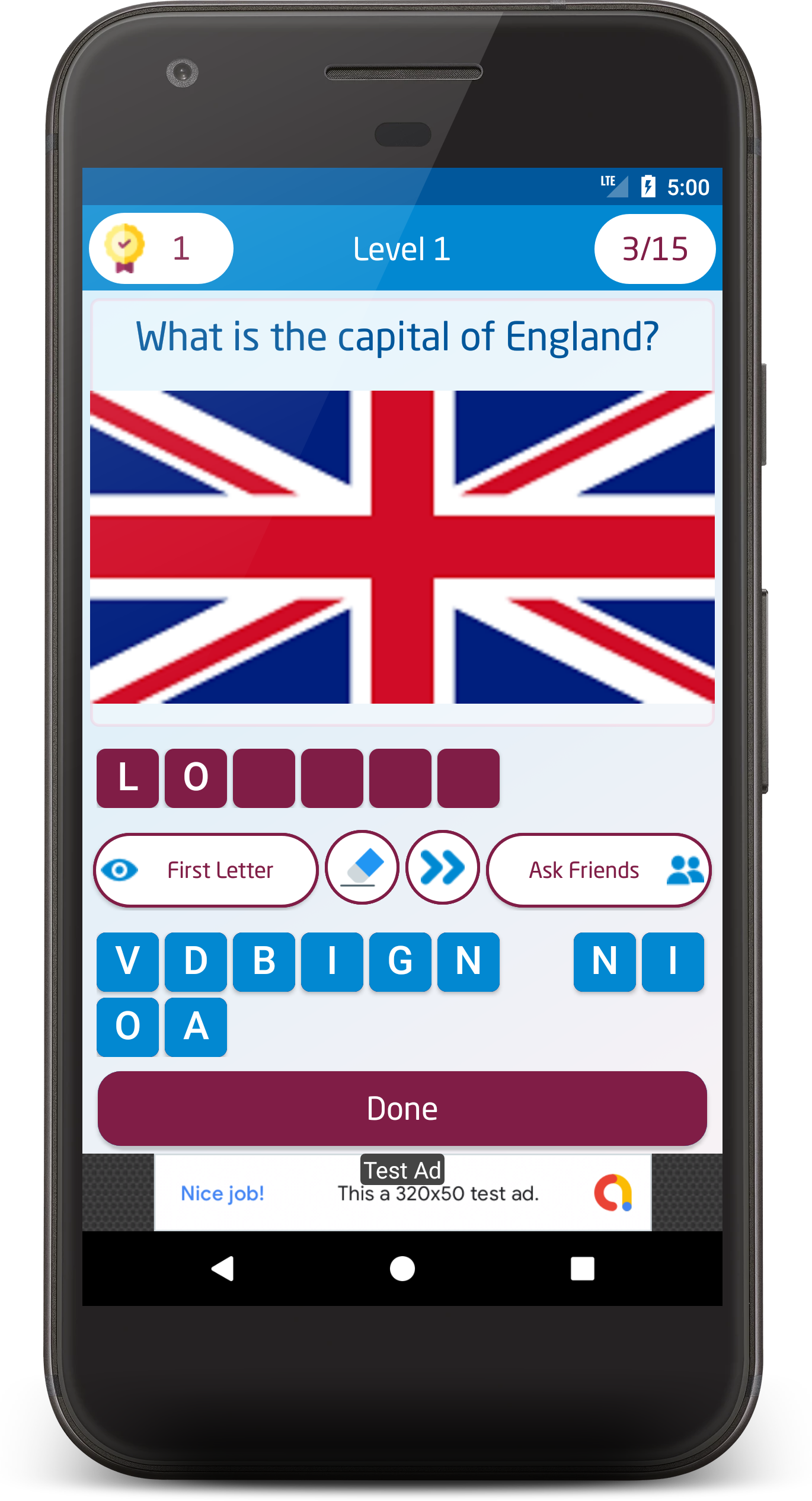 Offline Word Quiz + Image Guess Puzzle Game for Android