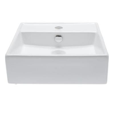 Elanti Wall Mounted Square Bathroom Sink In White Home