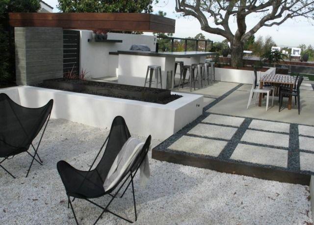 Terrasse - 21 idées pour bien l\u0027aménager - Dalle De Beton Exterieur